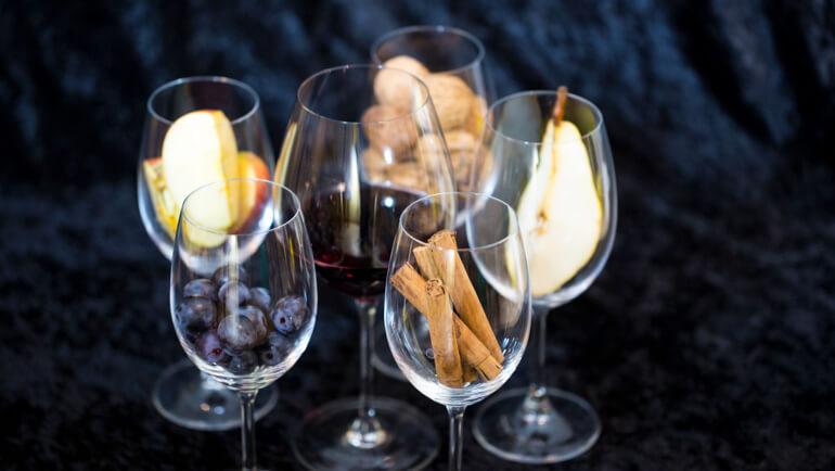 De wijn aroma's op een rijtje