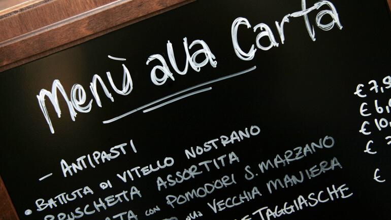 Op restaurant bij een Italiaan: een Italiaans menu ontleden