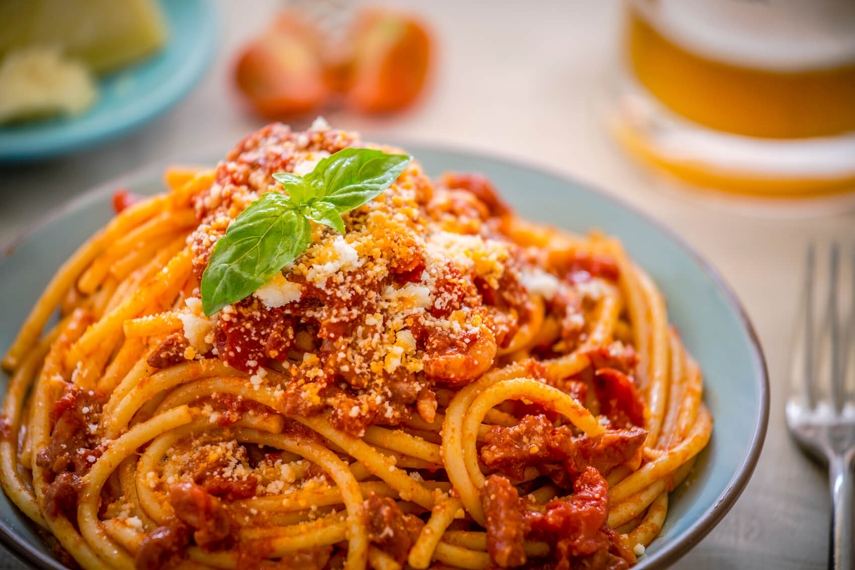 Pasta al Pomodoro e Basilico: recept
